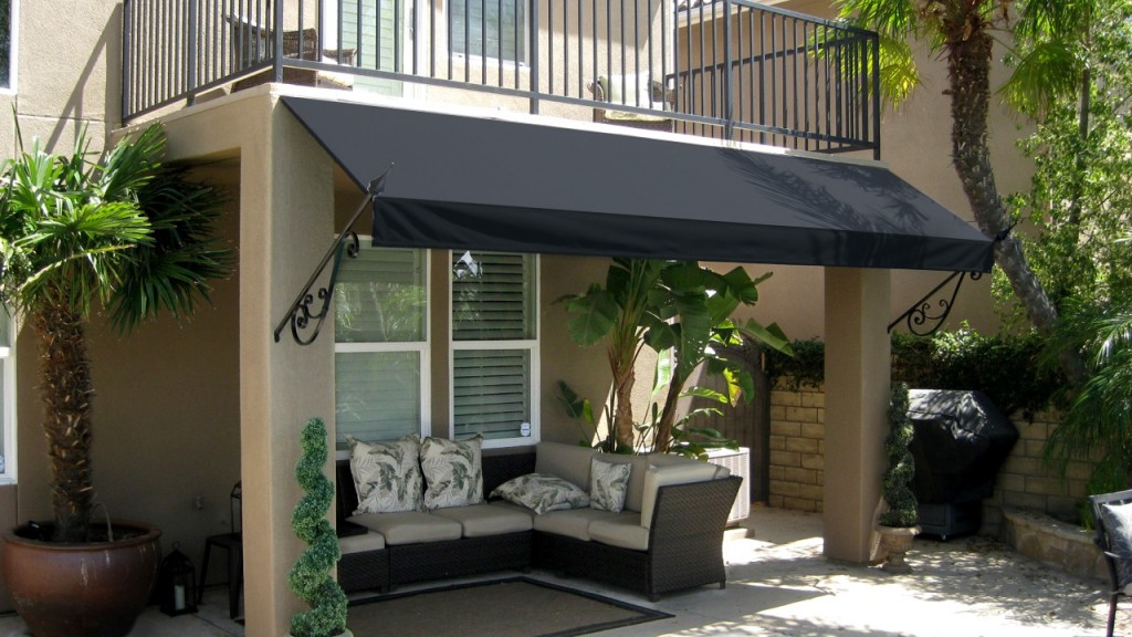 Black spear awning
