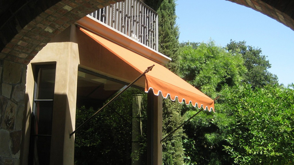 Orange spear awning