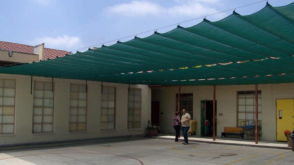 Green Sliding on Wire Awning