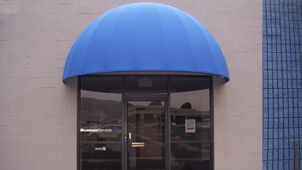 Blue dome awning
