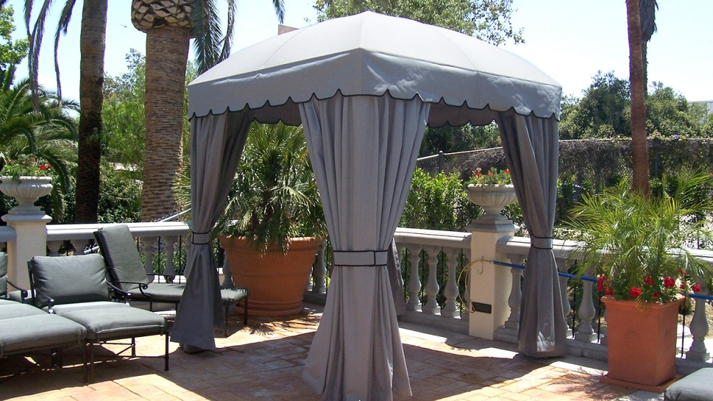 A custom cabana keeps you cool in the sun