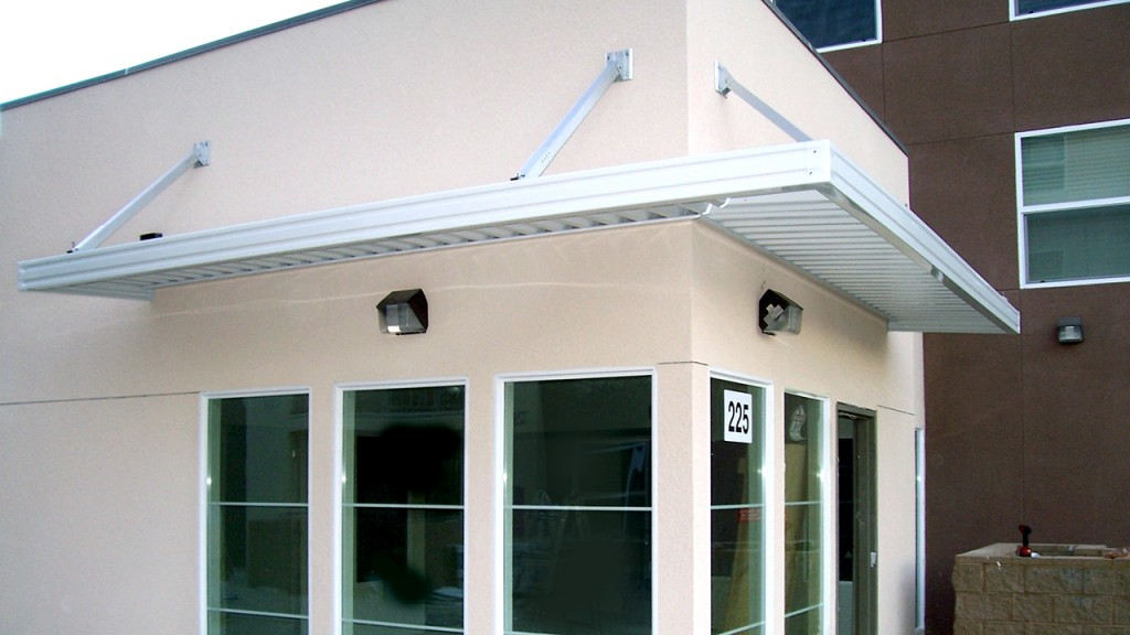 Aluminum awning installed by A World of Awnings