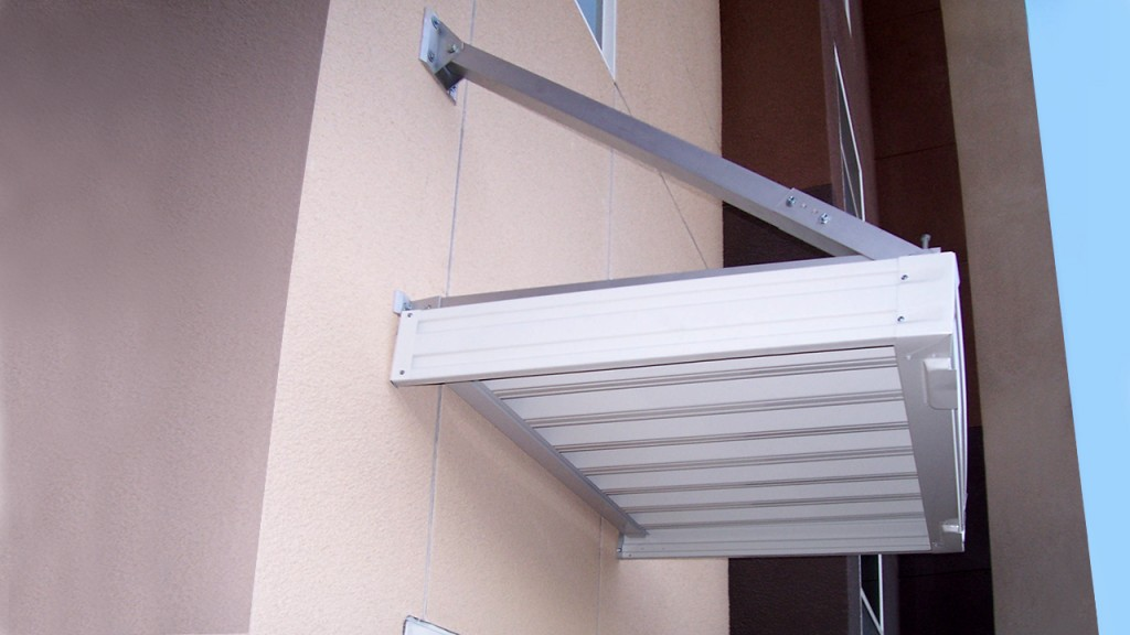 Detail of an aluminum awning
