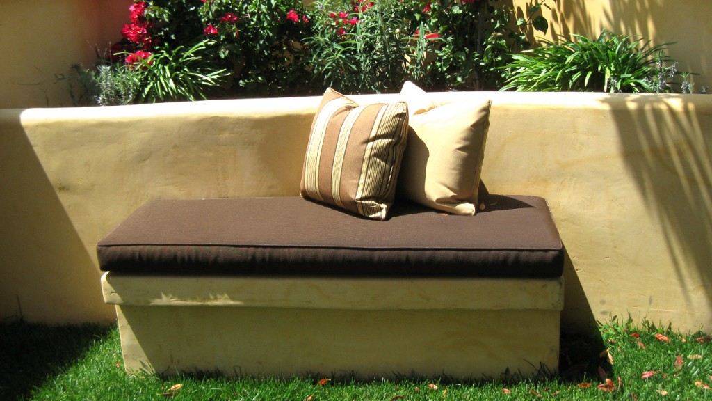 Cushions custom-made by A World of Awnings
