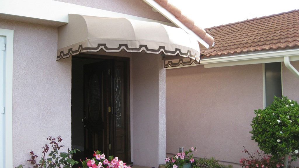This is a custom convex awning created by A World of Awnings