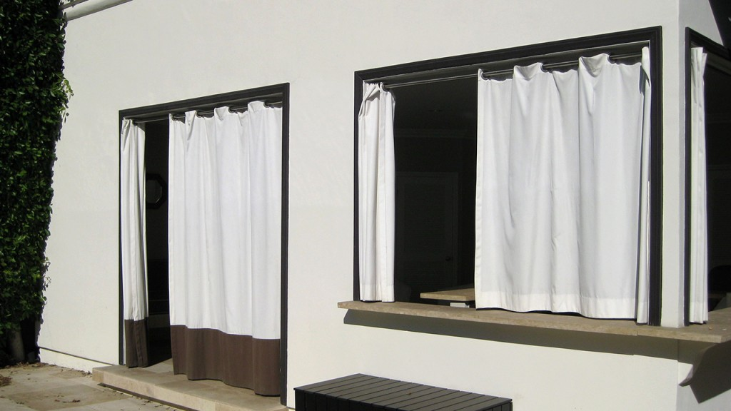 White Sliding curtains