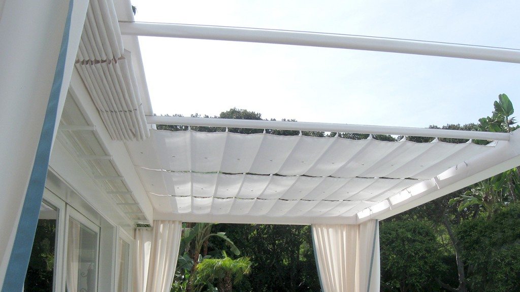 Awning in slide on wire style