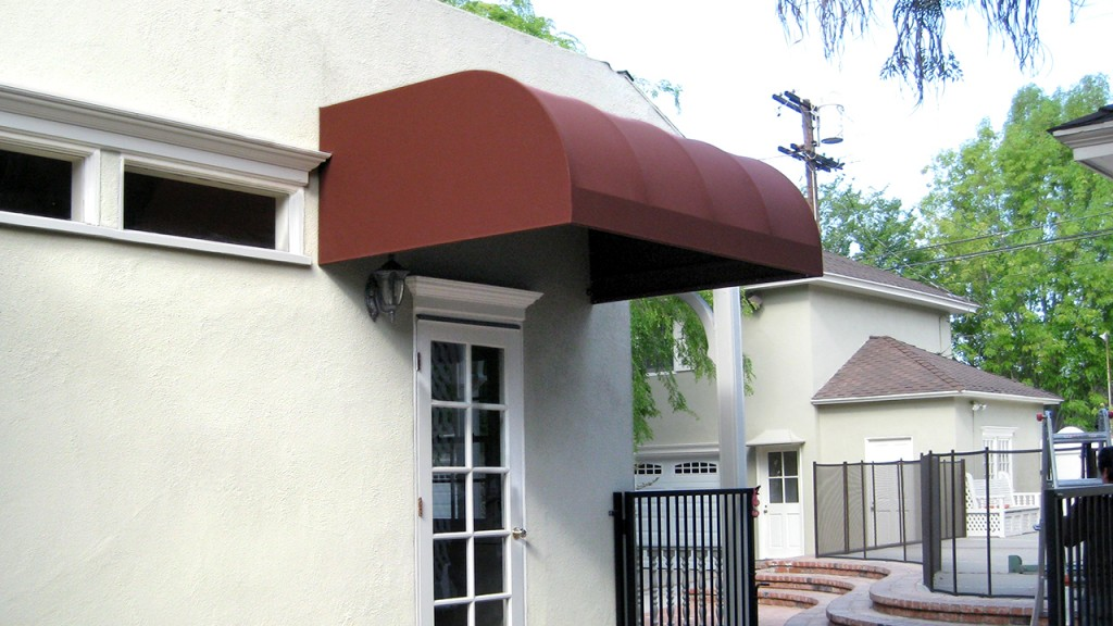 convex awnings are attractive and offer space for signage
