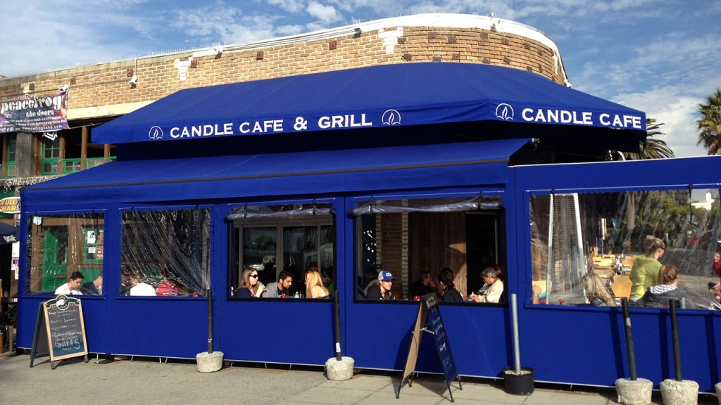 Restaurant awning at Candle Cafe and Grill