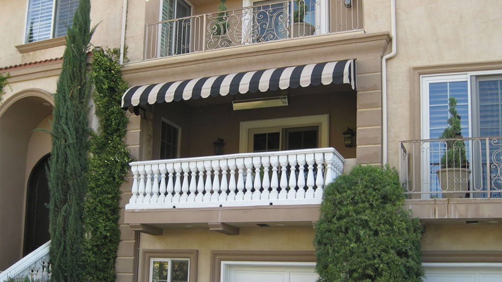 A stylish convex awning