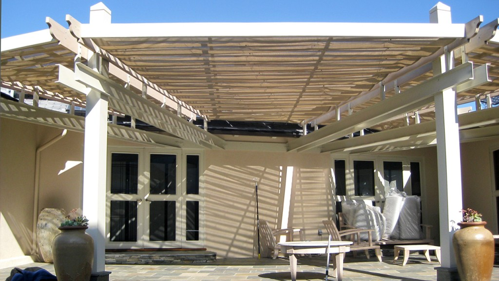 Slide on wire awnings