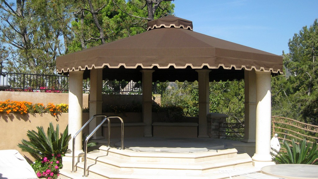 Brown patio canopy