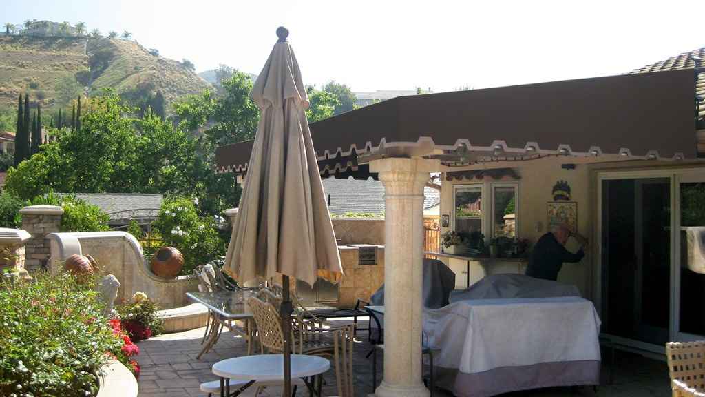 Backyard patio canopy