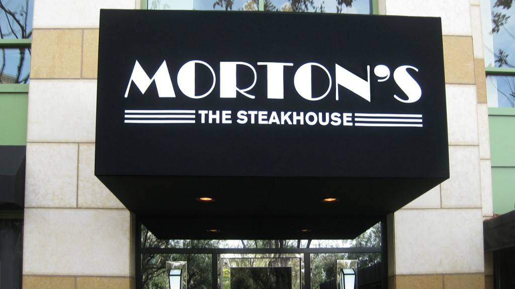 Restaurant awning at Morton's the Steakhouse