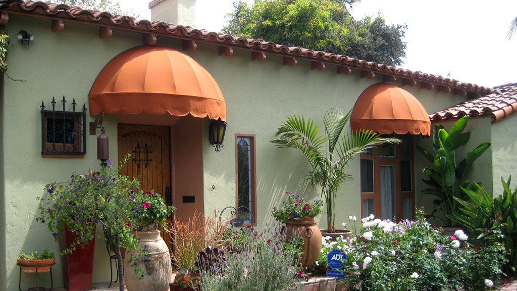 Dome awnings fabricated by A World of Awnings