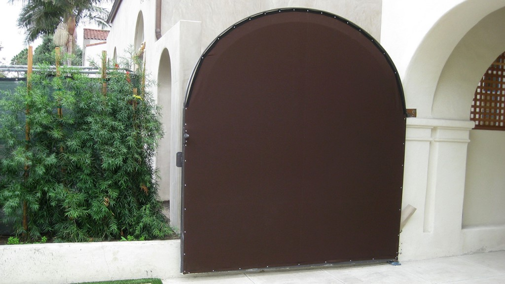 A brown outdoor privacy screen