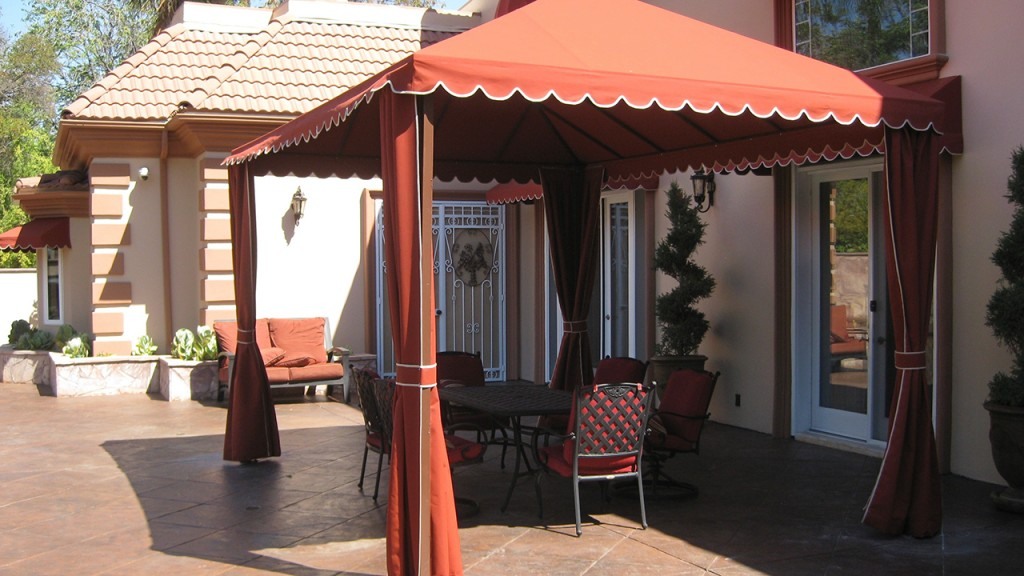 Custom cabanas made by A World of Awnings