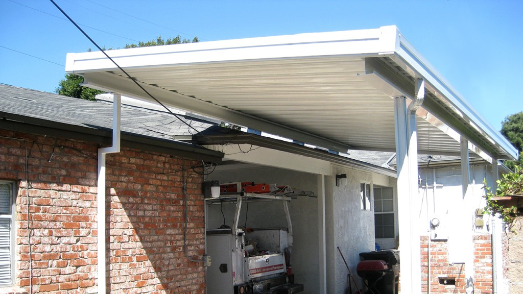 Aluminum awnings installed by A World of Awnings