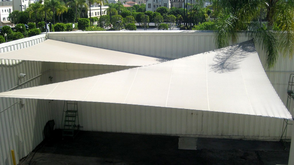 White shade structures