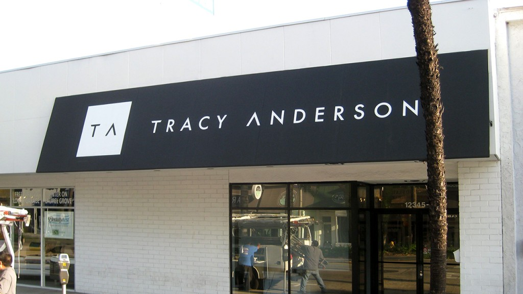 Tracy Anderson storefront awning